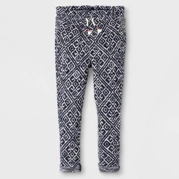 33dfe4cec OshKosh B'gosh Bottoms | Girls Jogger Pants Navywhite Print Sz 5t ...